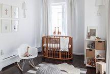 Quarto do Baby / Inspirações para montar o quarto do bebê de forma neutra, suave e elegante.