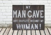 man cave / manly stuff / by Pamela Crist