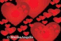 "Love / © Marisa Angelis - Australian Visual Artist Painter Designer Writer Poet Philanthropist Humanitarian Promoter - who holds four nominations, including ""Australian of the Year 2003"" Short List - Role Model  https://plus.google.com/+MarisaAngelis/about / by Marisa Angelis"