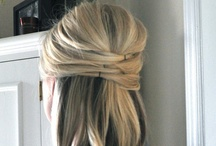 Half-updo hairstyle