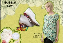 "Bubble Gum InspiraTIOn  / Yuki Tokyo S/S 2013 collection  BuBBle Tunic Yellow ""The circular symbolic motif is back again today in fashion and jewelry, Yuki and Miwa designer's restyled that in a creative and funny way!"