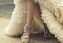 Hen & Bride Shoe Porn ! / Girls-only! Glamour begins with your toes... go lust after those Jimmy Choos, Louboutins or Dolce & Gabbanas...