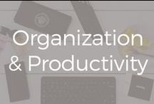 Organization & Productivity / I'm obsessed with office supplies, organization tips for business and anything to make me more productivity as an entrepreneur.