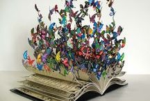 Papírcsodák / origami, papírszobrászat, könyvszobrászat (book art)
