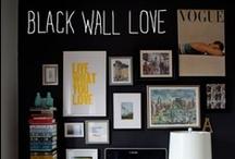 black wall