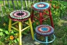 Crochet Stool Covers