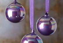 Christmas decor - purple