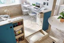 Aménager un petit espace / Aménager un petit espace ce n'est pas toujours simple, je réunis ici des astuces de rangement et d'aménagement pour gagner de la place.