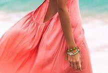 CORAL *dress*