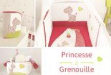 Collection - Princesse & Grenouille / Découvrez notre collection chambre bébé fille Princesse & Grenouille.