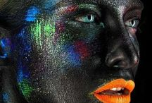 Theatrical Makeup / Beautiful makeup that is beyond the everyday. Suitable for theatre, catwalk and editorial looks