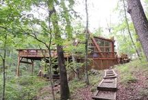 Rustic A-frame Cabins in Missouri / At Innsbrook, quaint A-frame cabins serve as weekend getaways and gathering places for family and friends in any season of the year. With Innsbrook's thousands of acres and 100 lakes, chalets enjoy wooded privacy and most sit lakeside: www.innsbrook-resort.com/real-estate/communities/chalets