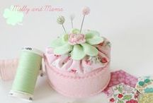Pin Cushions and Needle Books / Pin cushions of all shapes and sizes. All adorable and so inspiring!