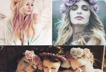Photoshoot mood board / Pastel/dreamy/boho shoot