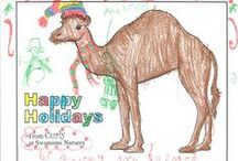 Curley's Art Wall / Thank you to all the kids who have created amazing artwork by coloring our holiday coloring pages! We display new pages at the nursery each week on Curley's art wall! Now you can see ALL the art on this board. We'll keep adding pages as we receive them.  Happy Holidays from Swansons Nursery!