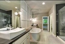 Bathrooms | By GNW / Guest bathroom & powder bathrooms along with product and storage ideas