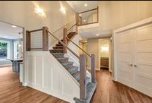 Trim + Doors | By GNW / Interior trim, handrails & door styles design and built by GNW Homes