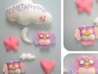 Felt cloud name mobiles