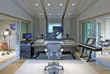 Studio Design Desires <\^_^/> / Some interesting and eye pleasing designs for music studios !