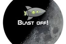 Space themed Party Personalized Suite / Outer Space Party Invitations, Gifts and and Favors ready to be customized to your event specifics.