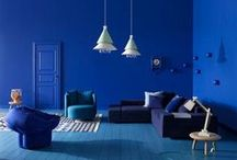 Cool Hues / Cool colour palettes in interiors