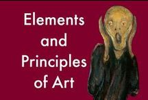 Elements & Principles of Art / Art Projects for Kids, Lessons focusing on the Elements of Art and Principles of Design / by Cindy @ The Art Curator for Kids