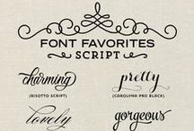Embracing My Inner Font Geek / Hi, my name is Amy, and I'm addicted to hot tea and fonts. (Altogether now: Hi Amy!). I know I'm not alone. Someone put these pins out there. LOL!