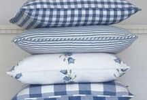 Pillows and pillow arrangements / pillows and pillow arrangements for bed and l.r. / by Jean Consford