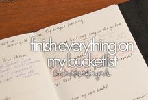 My bucket list / These things I want to do in my life!❤️