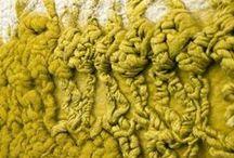 Textile Art / Beautiful textile art. Rich textures, vivid cloours .... Makes you jsut want out and touch it.