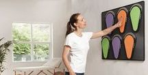Q-Pads / Q-Pads are an interactive rehabilitation system which provides the user and clinician visual feedback via a pressure sensitive surface and bright multicolored LED lights.