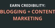Earn Credibility: Blogging + Content Marketing / Blogging is one of the fastest ways to build credibility, your business and recognition. | blogging, entrepreneurship, content marketing, branding, credibility