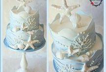 Coastal Style Wedding Cakes
