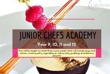 JUNIOR CHEFS ACADEMY / Based in London and open to girls in Year 9, 10, 11 and 12, the Junior Chef Academy course runs for 10 weeks, takes place in a professional training kitchen and is led by professional Chefs.