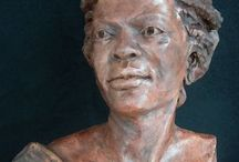 My- Portraits / The joyful challenge of capturing ones likeness in clay.