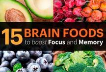Feed Your Brain / Put good in, get good out! Strengthen your mind and body with these brain foods and health tips that can make for a better lifestyle, a better study session, and a better you! (But don't forget to treat yourself once in a while)