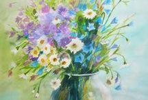 Picturi cu flori-----Watercolor Flowers / Art by Gabriela Calinoiu------ www.picturiflori.wordpress.com