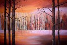 Picturi pe panza cu peisaje------Landscapes Paintings