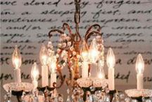 CHANDELIER LUSTRE MIRORS PAMPILLE LANTERN / by Moïra