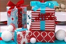 Christmas / Red, Aqua & Blue