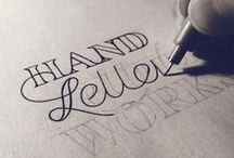 Hand Lettering, Vector, Fonts: Logos