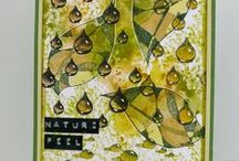Water Rain Drop Stamps on Cards, Tags