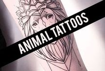 < Animal Tattoos > / Beautiful animal tattoo pictures gathered from all around the globe. Best ideas for animal tattoos.