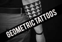< Geometric Tattoos > / Geometric tattoo ideas: squares, triangles, circles, sacred geometry patterns, rectangles and others. Best quality tattoos gathered from the web.