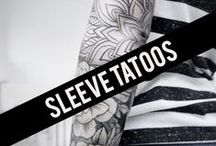 < Sleeve Tattoos > / Discover full and half sleeve tattoo ideas with our pinterest board.