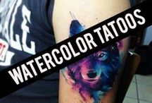 < Watercolor Tattoos > / Amazing watercolor tattoo ideas. Colorful splashes, animals, abstract pieces and more. Discover watercolor with our board.