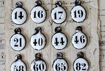 Numeri e lettere smaltati