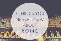 Rome, Italy: things to do / An insider's guide to your Rome tour, city's best attractions, things to do, including how to travel to one of the most beautiful cities in Italy.