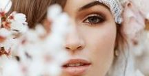 Referências para noivas / Maquiagens para noivas que gostam do visual mais natural. O destaque principal é a pele. Nudes, tons terrosos, rosas delicados e pontos de destaque equilibrados.