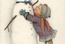 Carte antiques de Noël / Vintage Christmas card